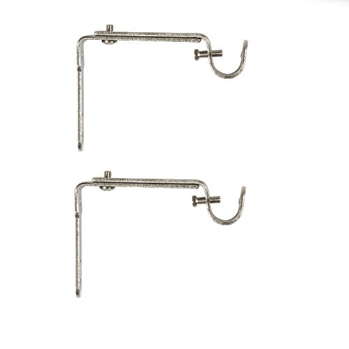 Umbra Curtain Rod Bracket - Adjustable Wall Bracket for Drapery Rod, Set of 2, Nickel