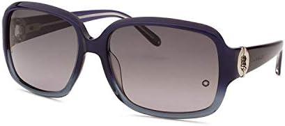 Mont Blanc MB 358S Dark Blue Grey Frame 59mm w//Smoke Shaded Lens 92W Sunglasses