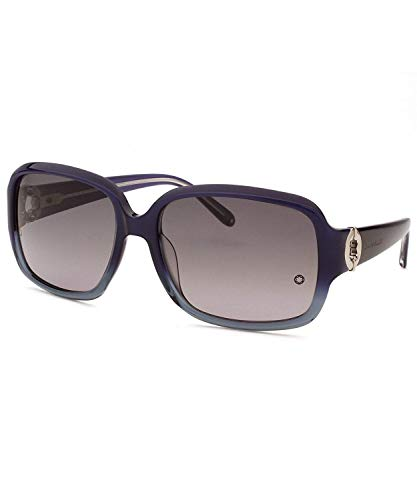 Mont Blanc MB 358S - 92W Sunglasses, Dark Blue Grey Frame 59mm w/Smoke Shaded Lens