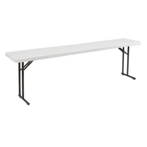 Folding Seminar Table (National Public Seating Seminar Folding Tables, 700lb Capacity, 18W x 72L)
