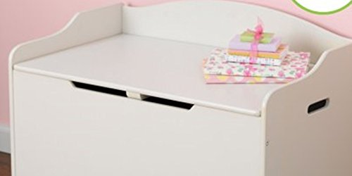 Toy Box, White, Functional, Safety Hinge on Lid Protects Young Fingers from Getting Pinched, Made of Wood, Doubles as a Bench for Additional Seating, Easy to Put Together, BONUS FREE E-book