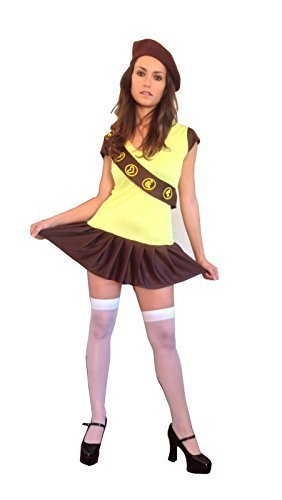 70s 80s 90s Brownie Girl Guide Fancy Dress Costume Outfit Size L (Women 12  sc 1 st  Amazon.ca & 70s 80s 90s Brownie Girl Guide Fancy Dress Costume Outfit Size L ...