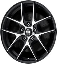 Motegi Racing MR128 Satin Black Wheel With Machined Flanged (17x7.5''/5x120mm, +45mm offset) by Motegi Racing (Image #4)