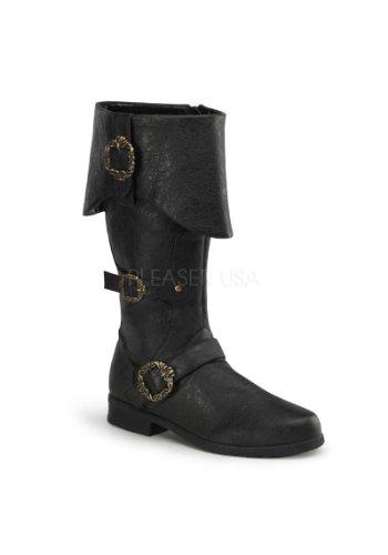 Funtasma Men's Carribean Combat Boot,Black Distressed,Small/8-9 M (Costume Boots Mens)