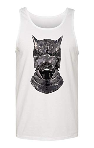 TMB Apparel New Novelty Shirt of Thrones Shirt Distressed Hounds Helm Men's Tank Top (White, -