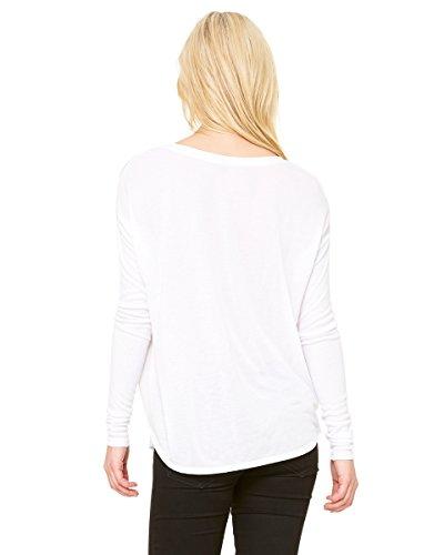 Bella Ladies 'Flowy manga larga camiseta de manga con 2x 1, Color blanco–S Mujer Blanco - blanco