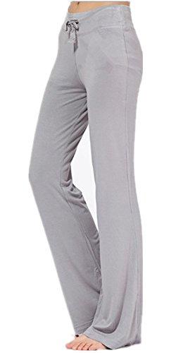Cotton Bootcut Trousers (Mullsan Women's Running Yoga Pants Fitness Trousers Boot-cut (X-Large, Grey))