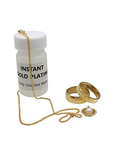 Instant Gold Plating Jewelry No Rectifier Needed Fast Use Hot Water Only