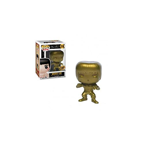 Funko Pop Movies: Gold Bruce Lee Collectible Figure, Multicolor