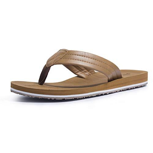 Men Flip Flops, Beach Thong Sandals Non Slip for Summer Tan