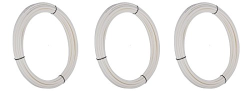 SharkBite U850W50 PEX Tubing, 1/4''/50', White (3-(Pack))