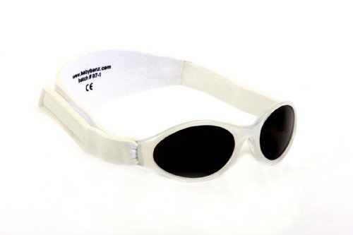 Adventure BanZ Baby Sunglasses, Arctic White, Infants 0-2 Years Size: Infants 0-2 Years Color: Arctic White, Model: -