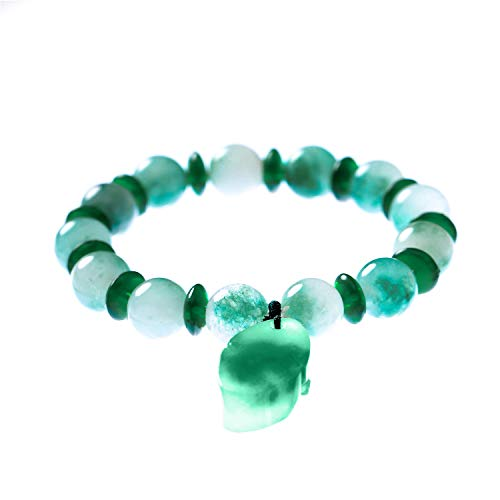 - Prime Fengshui Porsperity Feng Shui 10mm Natural Jade Bead Bracelet with Pi Xiu/Pi Yao Pendant Attract Wealth and Good Luck