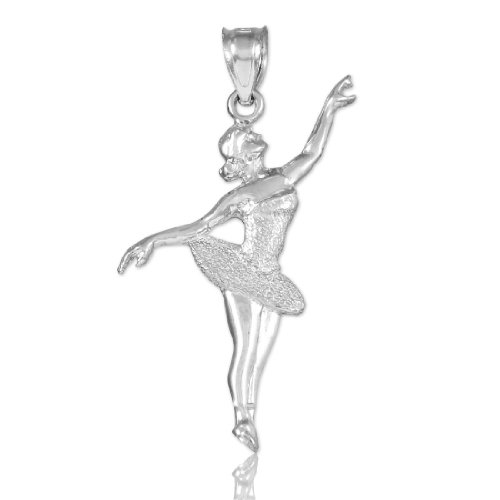 Sports Charms 925 Sterling Silver Ballet Dancer Charm Pendant