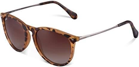 Carfia Vintage Polarized Sunglasses for Women Men, 100% UV400 Protection