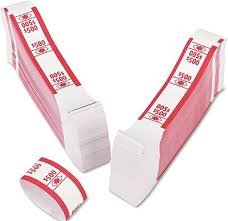 PM Company Currency Bands, $500.00, Self Adhesive, 3 Packs Of 1000, 55030 by PM Company (Image #1)