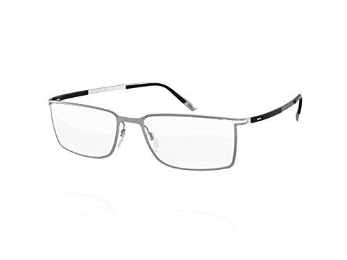 Silhouette Eyeglasses Titan Contour Fullrim 5445 (SILVER BLACK, 54MM) by Silhouette