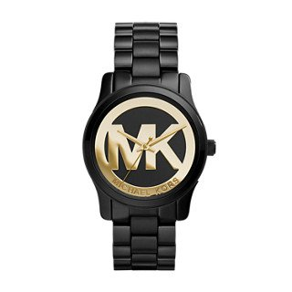 Michael Kors MK6057 Women's Runway Black Ion-Plated Stainless Steel Bracelet Watch