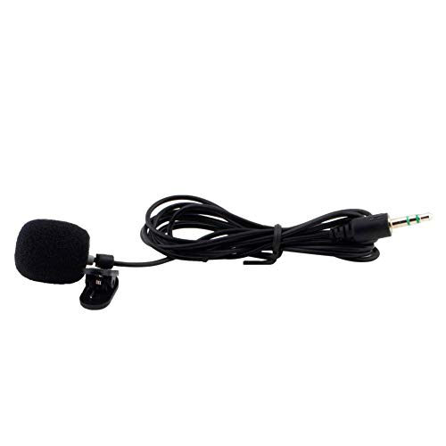 shijunli Mini Microphone Portable Mini 3.5MM Tie Lapel Collar Microphone