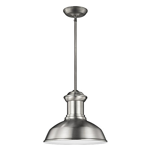 Traditional Outdoor Pendant Light (Sea Gull Lighting 6247701-04 Fredricksburg One-Light Outdoor Pendant, Satin Aluminum Finish)