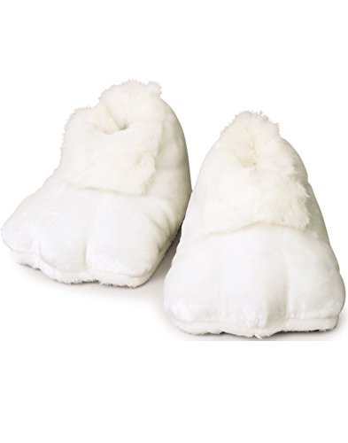 White Costumes Shoes (Rubie's Costume Co Plush Adult Bunny Shoes, White, One Size)
