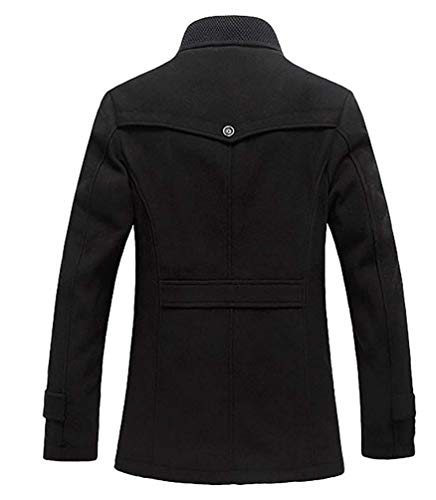 Couleur Mélange Pour Asie Hiver Noir Hommes Fuweiencore De Taille En Laine Fit Trench Slim Coat 3xl Veste Manteau Noir FqEvO
