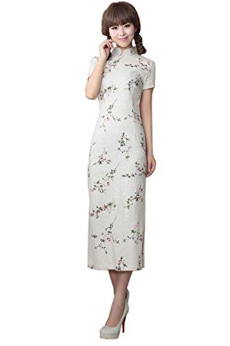 Elégant Couleurs A Courte Cheongsam 8 Manche Longue Femme Qipao Pour Avec Acvip pqYwvSOO