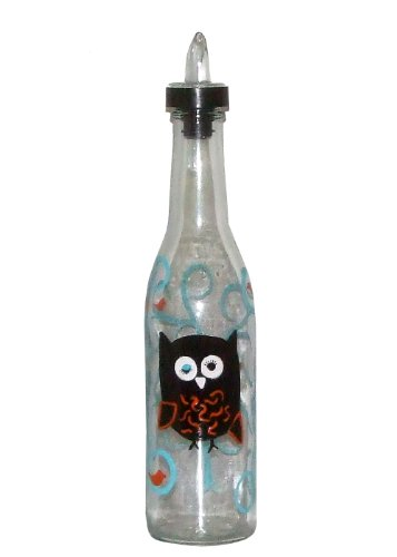 ArtisanStreet's Winking Owl Sitting in Tree Hand Painted Pour Spout Bottle