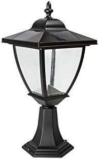 Classy Caps SML556 Aluminum Elegante Solar Lamp, Black