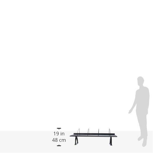 "Safco Products 3603BL Wood Desk Riser, 42""W, Black"