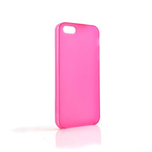 System-S Silikon Tasche Case Cover Skin Schutz Hülle Transparent Pink für Apple iPhone 5