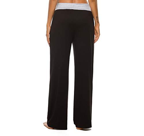 LOCUBE Women's Casual Floral Print Wide Leg Palazzo Lounge Pants Drawstring Long Pajama Pants
