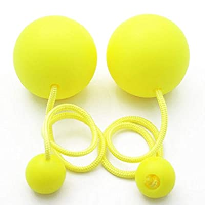 Play Pair of Contact Poi Pro with 90mm Stage Ball (Yellow): Toys & Games