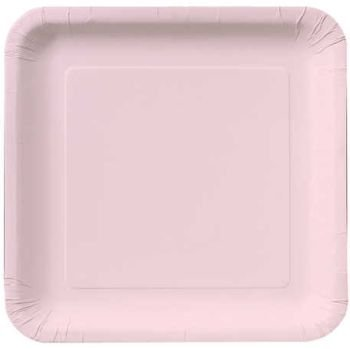 Creative Converting 18-Count Touch of Color Square Paper Dinner Plates, Classic - Dinner Paper Plates Pink 9