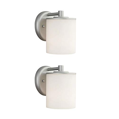 (Philips Forecast 60W Outdoor Wall Lantern Light, Vista Silver (2 Pack))