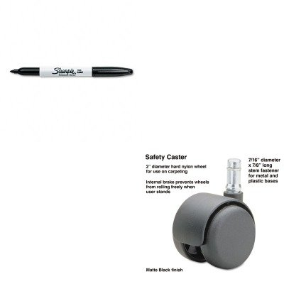 KITMAS64234SAN30001 - Value Kit - Master Caster Safety Casters (MAS64234) and Sharpie Permanent Marker (SAN30001)
