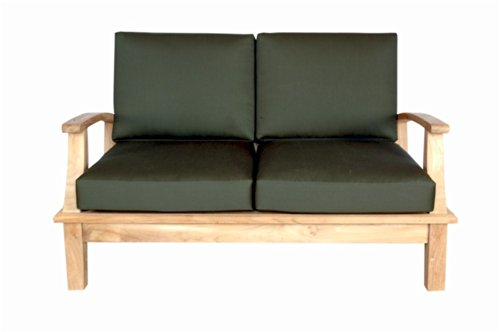 (Anderson Teak Brianna Deep Seating Loveseat with Cushion, Natural)
