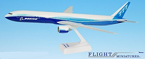 Boeing Demo (04-Cur) 777-300 Airplane Miniature Model Snap Fit 1:200 Part#ABO-77730H-003 (200 Snap Fit Model)