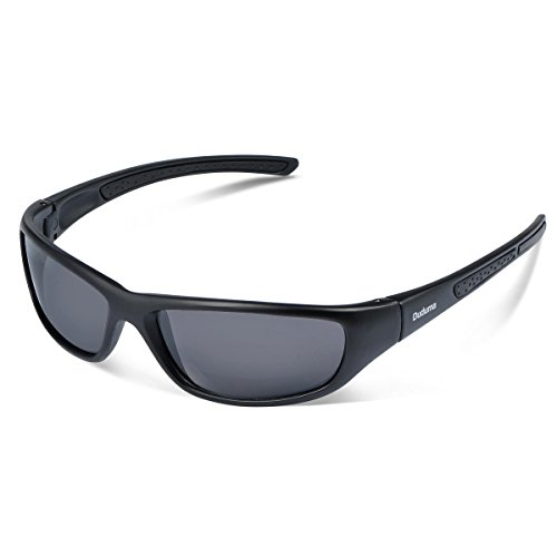 Duduma Tr8116 Polarized Sports Sunglasses for Baseball Cycling Fishing Golf Superlight Frame(Black matte frame with black - Womens Sports Sunglasses