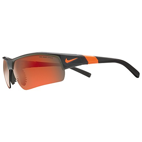 Nike Golf Show X2 Pro R Sunglasses, Matte Deep Pewter/Total Orange/Shatter Frame, Grey with Ml Orange - Nike Sunglasses Orange