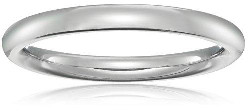 Standard Comfort-Fit Platinum Band, 2mm, Size 6.5