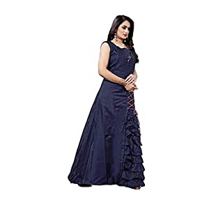 SWAGAT SAREE Women's A-Line Maxi Gown