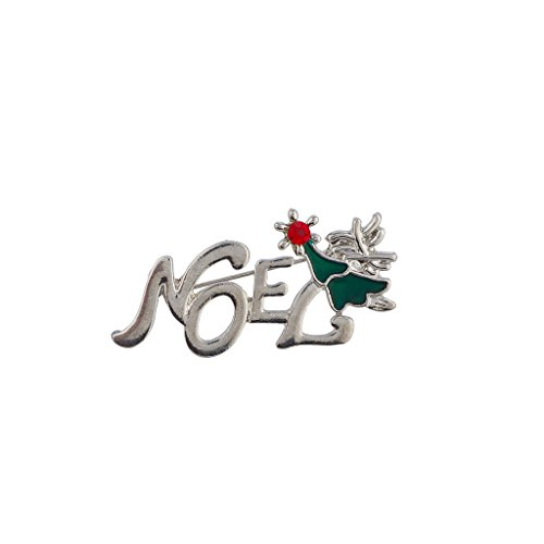 Lux Accessories Holiday Christmas Xmas Tree Silvertone Noel Brooch Pin