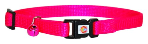 "Hamilton Adjustable Break-A-Way Safety Cat Collar, Hot Pink, 3/8"" Wide"
