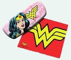 Wonder Woman Eyeglass Hard Case w/ Matching Lens - Case Novelty Glasses