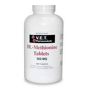 DL-Methionine, 500mg, 1000 Tablets, My Pet Supplies
