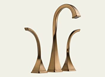 Brizo 65430LF BZ Virage Two Handle Widespread Vessel Lavatory Faucet,  Brilliance Brushed Bronze