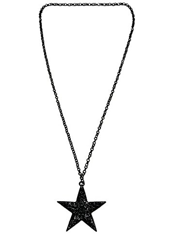 Buy town of trinkets black star long link chain necklaces classical town of trinkets black star long link chain necklaces classical five point stars pendant necklace mozeypictures