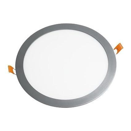 Alverlamp DL12PL60AL - Downlight led empotrar smd redondo 12w 6000k aluminio