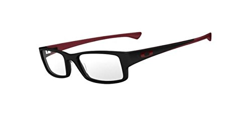 Oakley Mens 57 mm Black Frame Transparent Lens Rectangular - Oakley Warranty Glasses